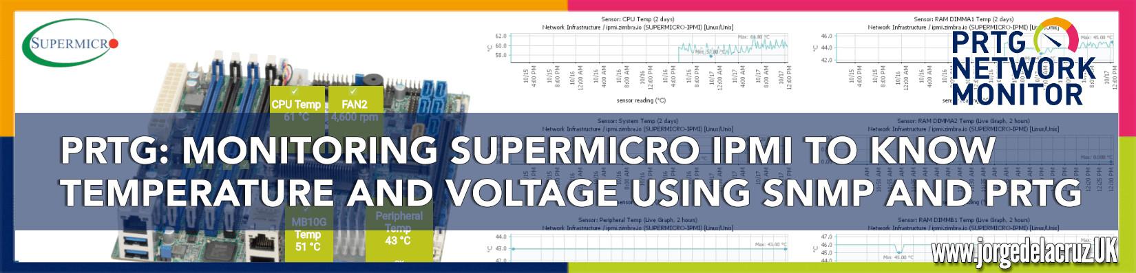 PRTG: Monitoring Supermicro IPMI to know temperature and