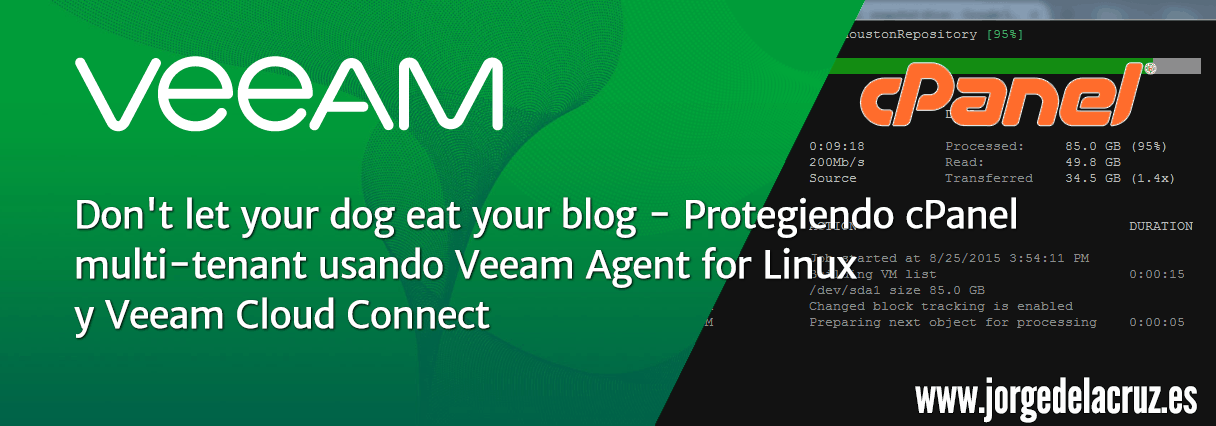 Veeam: Don't let your dog eat your blog –Protecting cPanel