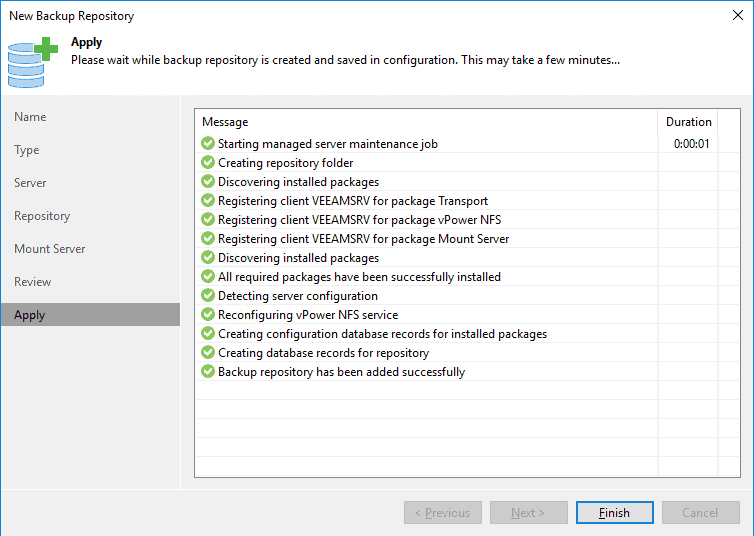 Veeam: How to create a Linux Backup repository in Veeam