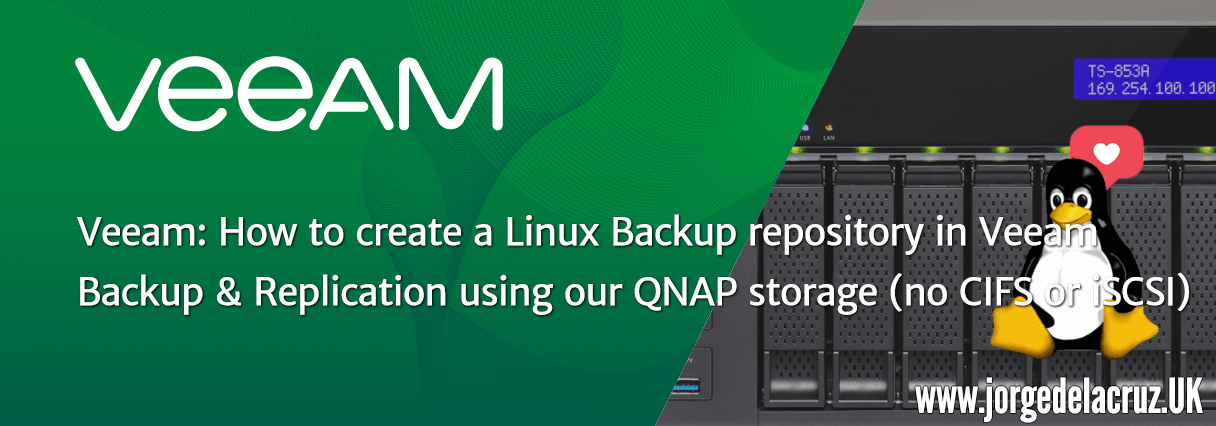 Veeam: How to create a Linux Backup repository in Veeam using our