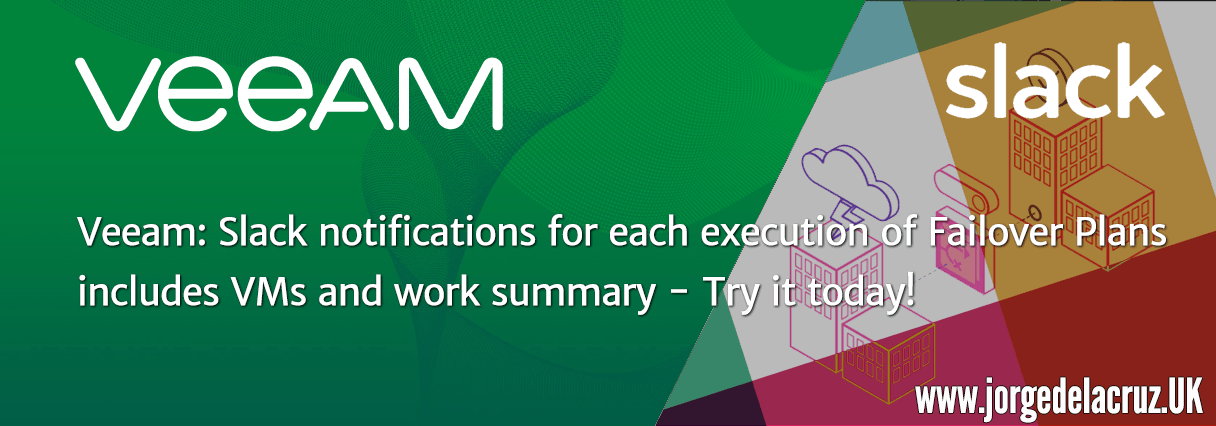 Veeam: Slack notifications for each execution of Failover