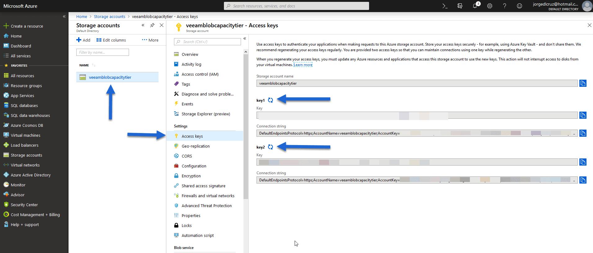 Veeam Cloud Tier Capacity Tier In Microsoft Azure Blob