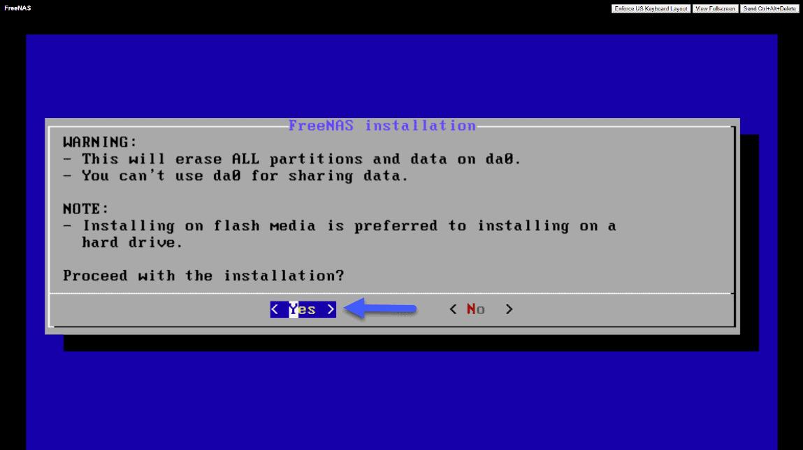 FreeNAS: Initial installation and configuration of FreeNAS